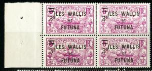 Wallis & Futuna Stamps # 40 VF OG NH Block Of 4 Scott Value $70.00