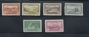 CANADA # 268-272 VF-MH $1 MNH KGV1 PEACE ISSUE CAT VALUE $108 FREE SHIPPING