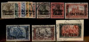 Germany Offices Morocco Michel 46-58 Used Stamp Set 62389
