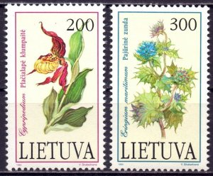 Lithuania. 1992. 499-500. flowers. MNH.