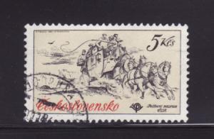 Czechoslovakia 2346 U WIPA Stamp Expo, Mail Coach (C)