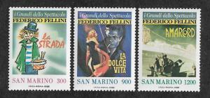 San Marino MNH 1157-9 Fellini Movie Posters 1988