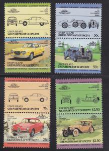 Union Island # 142 / 162, Automobile Pairs Mint NH.