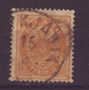 J19102 Jlstamps 1896 iceland used #21 numeral