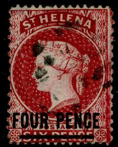 ST. HELENA SG24, 4d carmine, FINE USED. Cat £60.