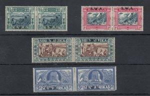South West Africa 1938 Voortrekker Centenary Bilingual Set SG105/108 MLH J8407