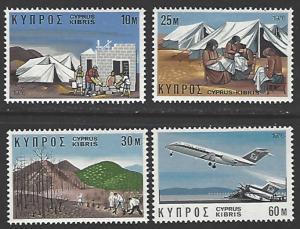 Cyprus #448-451 MNH Set of 4