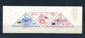 Dominican Republic 1957 Imperf Olympic Games Melbourne MNH 8758