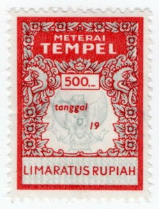 (I.B) Indonesia Revenue : General Duty 500R (Meterai Tempel)