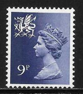 Great Britain Wales WMMH12 9p Machin MNH