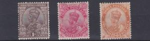 INDIA  1922 - 26    S G  197 - 199     VARIOUS  VALUES TO  2A  6P  MH