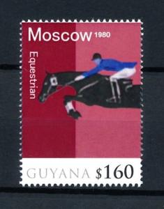 [92538] Guyana 2010 Olympic Games Moscow Equestrian Horse  MNH