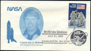 10 COVERS, CAP. JON A. MCBRIDE W.V. 1ST ASTRONAUT, MCBRIDE STATION JULY 21, 1989