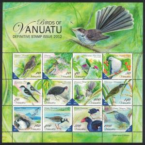Vanuatu Heron Dove Swamphen Petrel Birds 12v Sheetlet MS SG#1118-1129