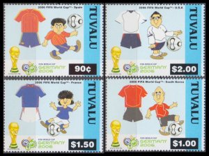 2006 Tuvalu 1263-66 2006 World championship on football Germania 10,50 €