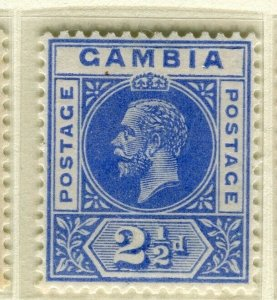 GAMBIA; 1921 early GV issue fine Mint hinged 2.5d. value