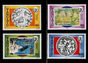 VANUATU Scott  401-404 Youth Year 1985 stamp set