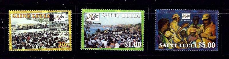 St Lucia 1136-38 MNH 2001 Jazz Festival