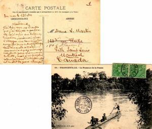 French Guinea 5c Fulah Shepherd (2) 1910 Conakry, Guinee-Francaise PPC (Franc...