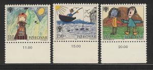 Faroe Islands 1979 IYC set mnh sc 45 - 47