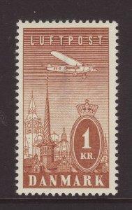 1934 Denmark 1 Kr Airmail Mint SG291
