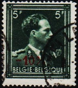 Belgium.1946 10% on 5f S.G.1173 Fine Used
