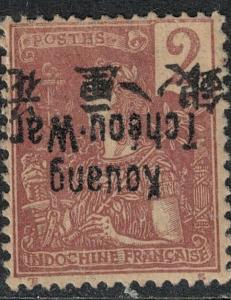 French Offices in CN Kwangchowan 1906 Mint SC 2 Var Invert Ovpt SCV $74.99
