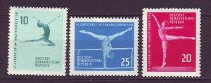 J24179 JLstamps 1961 germany DDR set mnh #555-7 sports