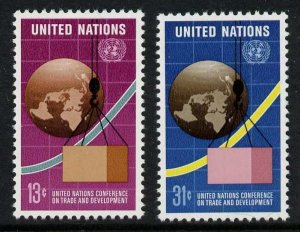 United Nations - New York 274-5 MNH UNCTAD, Trade, Map