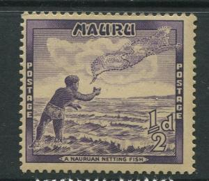 Nauru - Scott 39 - Pictorial Definitive Issue- 1954 - MNH- Single 1/2d Stamps