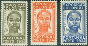 Portugal Scott 558-60 Afinsa 561-3 CV 83? 1934 Expo set