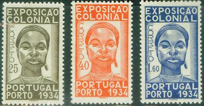 Portugal Scott 558-60 Afinsa 561-3 CV 83? 1934 Expo set