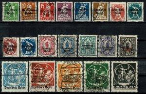 GERMANY 1920-21 BAVARIA Optd. MUNICH USED (VFU) SET SG117-136 Wmk.W9 -10 SUPERB
