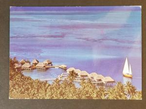 1984 FAAA Tahiti Pacific Palisades California Scenic Real Photo Postcard Cover