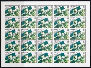 Senegal 1991 Sc#943/946 LOUIS ARMSTRONG/JAZZ 4 Mini-Sheetlets IMPERF.UNFOLDED