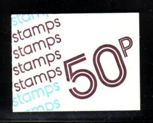 Great Britain Sc BK228 1977 50p booklet MH65a mint NH