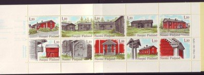 Finland Sc 626 1979 Houses stamp booklet pane mint NH
