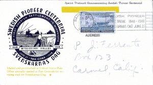 #958 FDC, 5c Swedish Pioneers, Mellone #10 w/insert