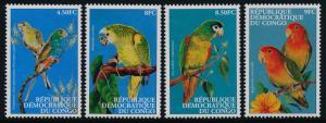 Congo DR 1528-31 MNH Birds, Parrots