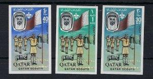 1965 Qatar Boy Scouts oil Imperf