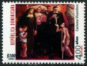 HERRICKSTAMP NEW ISSUES DOMINICAN REPUBLIC Sc.# 1625 Vincentian Charism