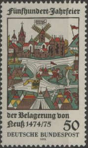 Stamp Germany Sc 1169 1975 Duke Charles of Burgundy Siege Neu  Anniversary MNH