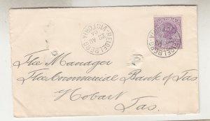 VICTORIA, 1904 Tatt's cover, Commercial Bank of Australia, 2d., HEIDELBERG cds,