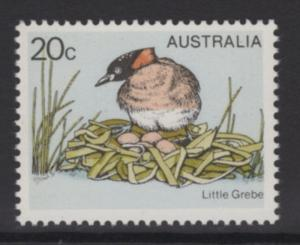 AUSTRALIA SG673a 1978 GREBE 20c WITH YELLOW (BEAK & EYE) OMITTED MNH