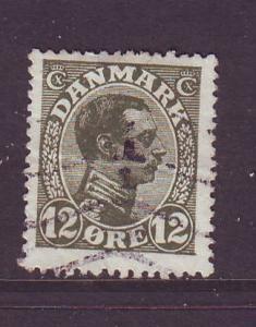 Denmark Sc 101 1918 12 o Christian X stamp used