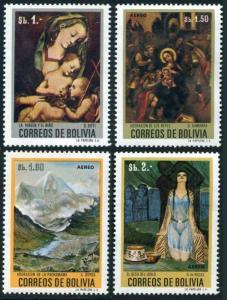 Bolivia 548,C317-C319,MNH.Michel 837,839-841. Bolivian paintings,08.17.1972.