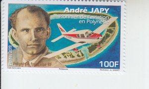 2019 Fr Polynesia Andre Japy Aviation Pioneer (Scott NA) MNH