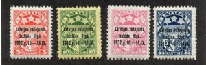 Latvia - Sc# 164 - 167 MH      /        Lot 0320131