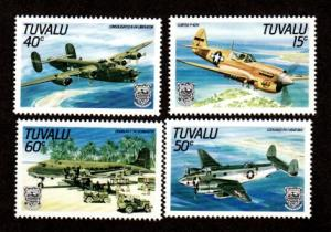 Tuvalu 307-310 Mint NH MNH Air Planes!
