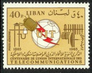 LEBANON 1966 40p ITU Centenary Airmail Sc C462 MNH